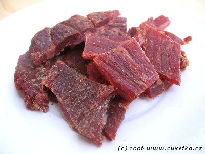 Beef Jerky: Pikantní sušené hovězí