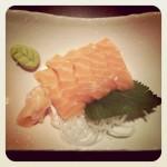 Sashimi zlososa, daikon, perilla